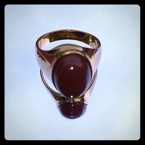 Men's Carnelian stainless steel ring.